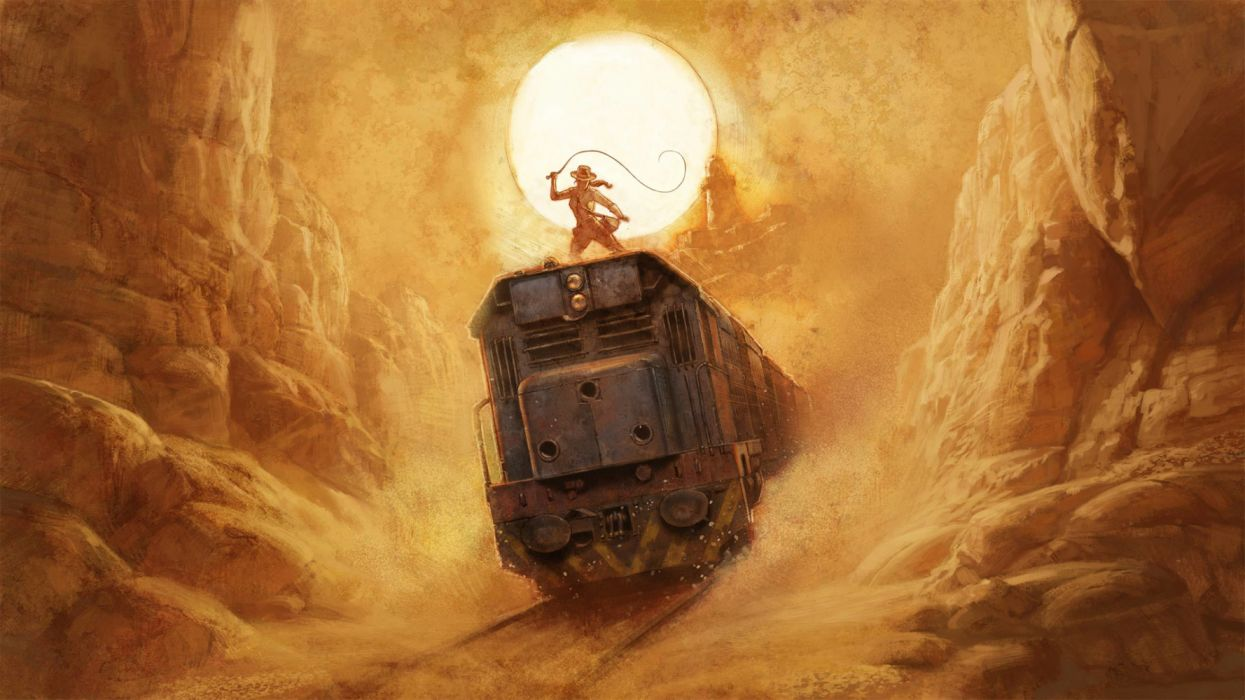 mountains people trains objects drawings widescreen wallpaper