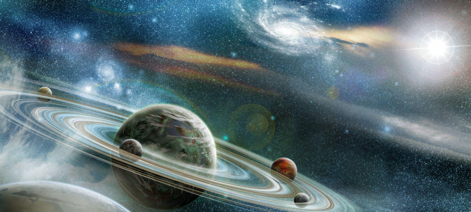 planetas saturno espacio naturaleza wallpaper
