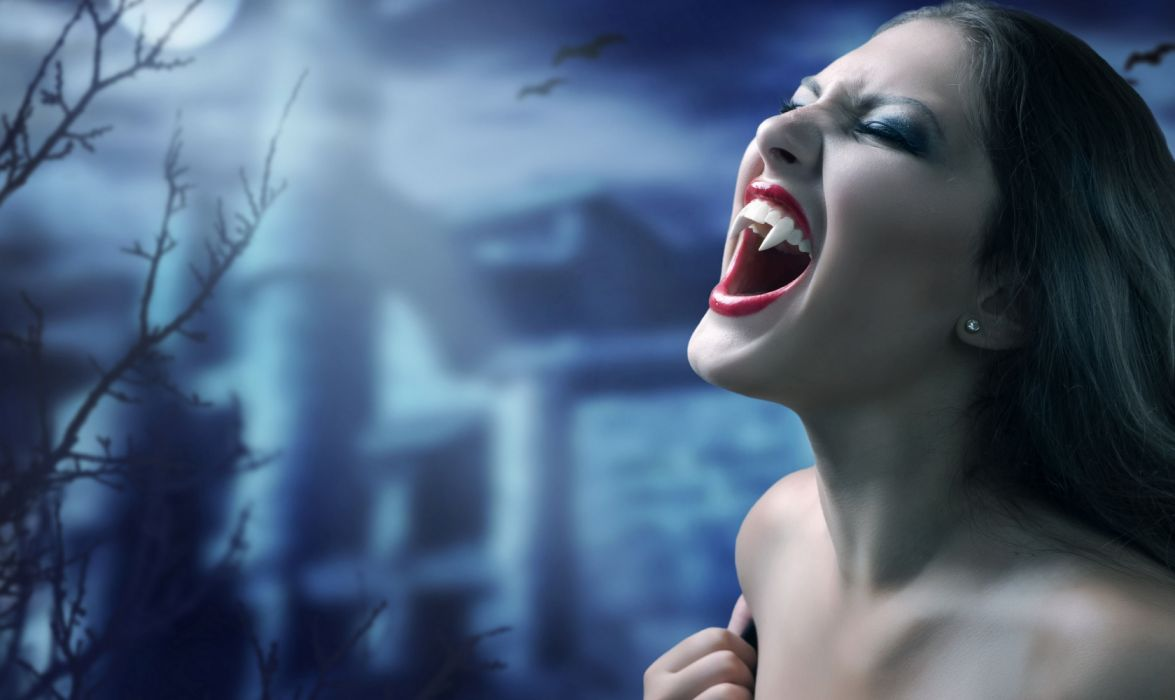 mujer vampiro fantasia wallpaper