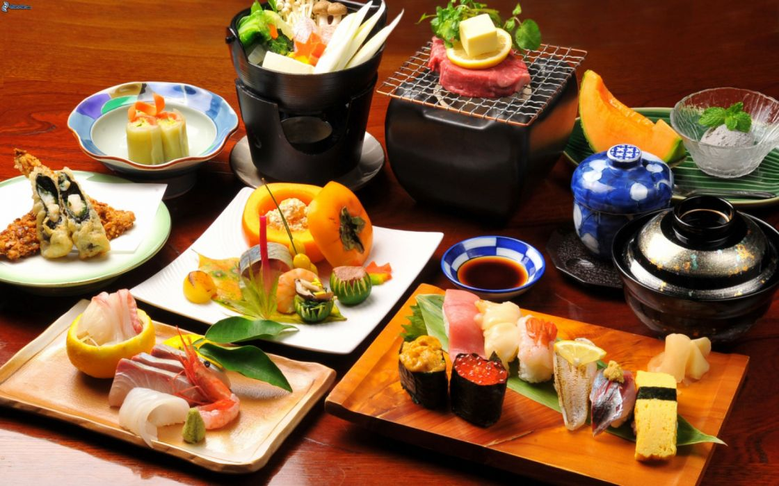 comida japonesa sushi pescado crudo wallpaper