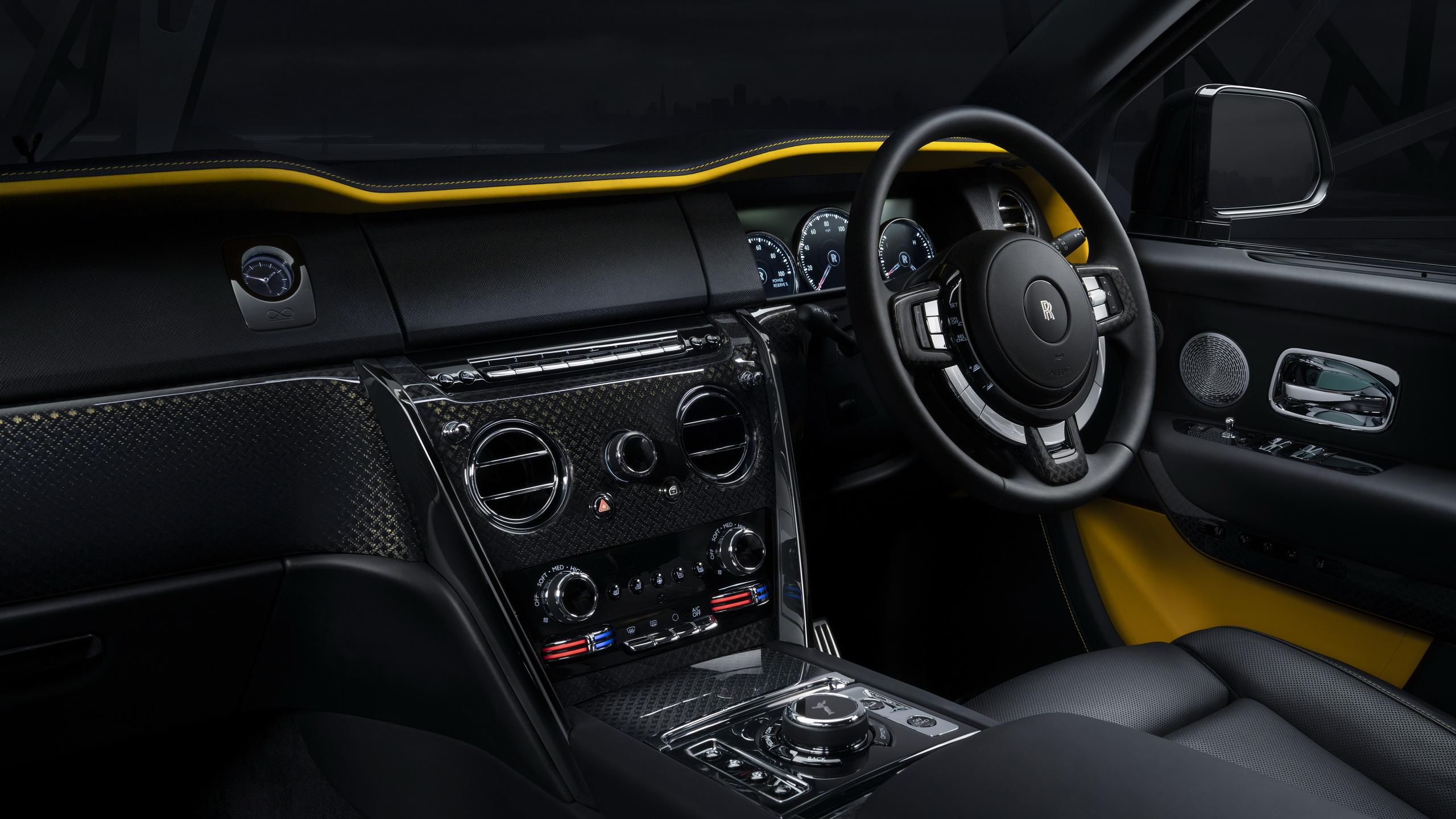Rolls Royce Cullinan Black Badge 2019 4k Interior Hd Wallpaper 2560x1440 1356938 Wallpaperup
