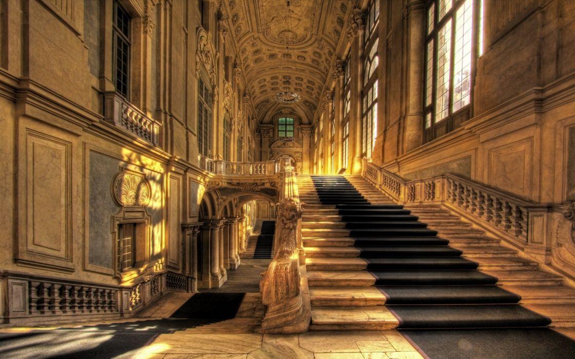 interior palacio escaleras lujo wallpaper