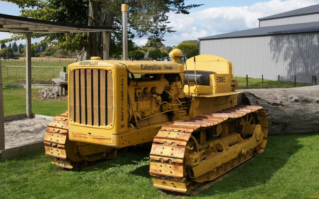 bulldozer vehicle yellow carterpillar wallpaper