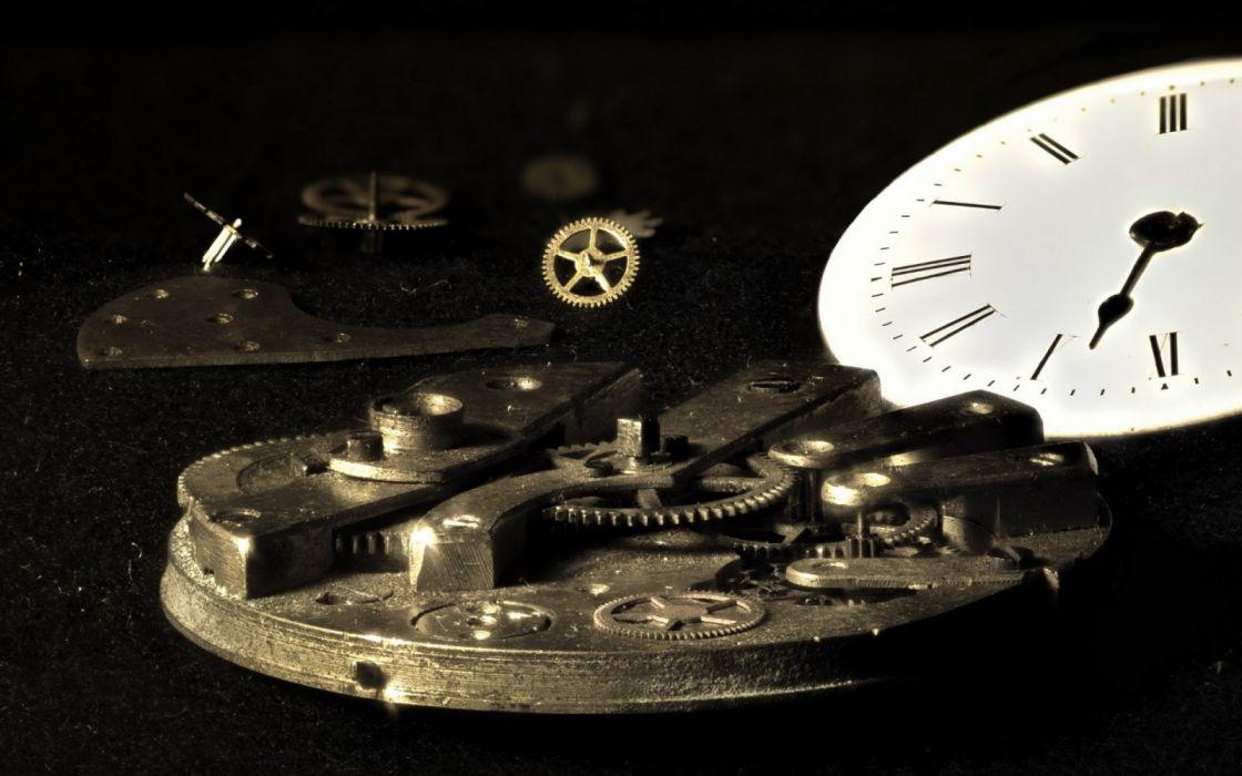 technology gears clocks clockwork wallpaper