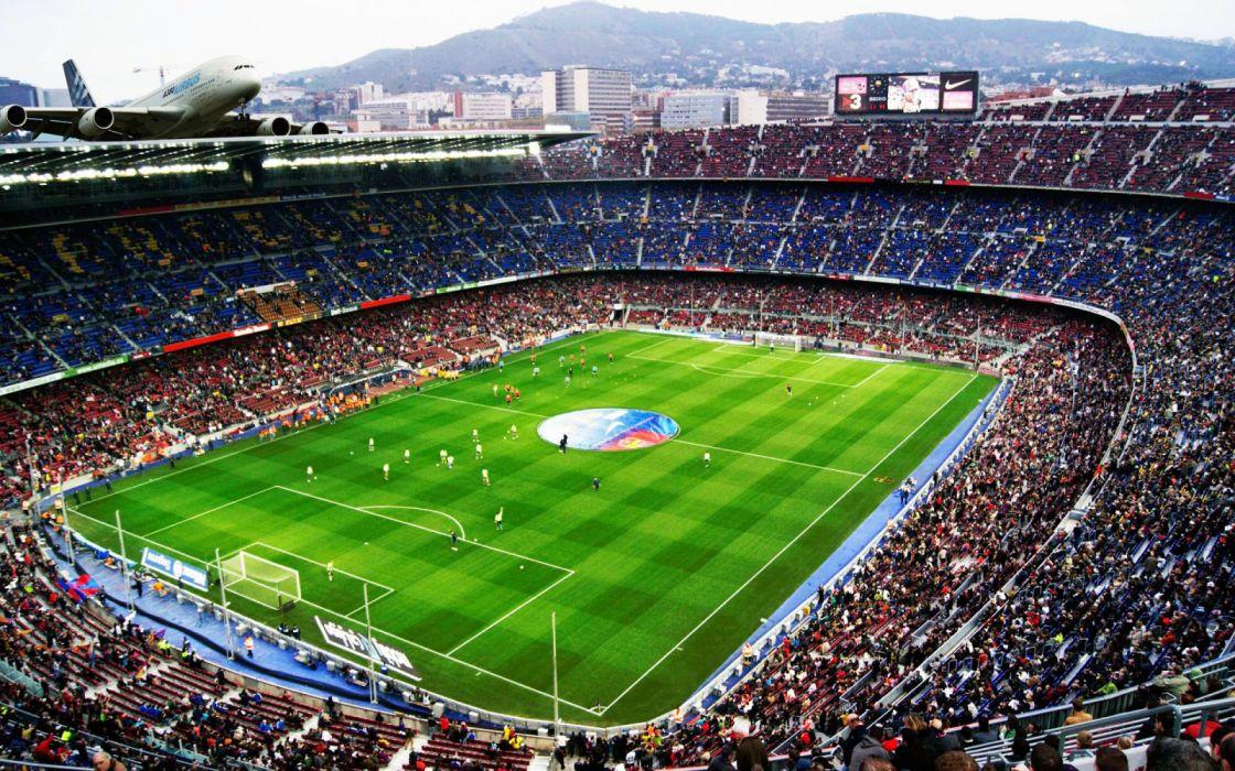 estadio nou cam futbol club barcelona airbus wallpaper