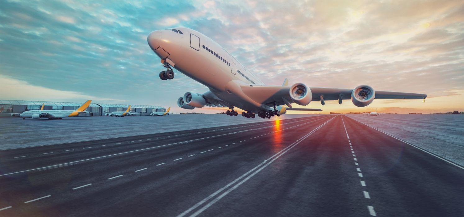 avion comercial despegue wallpaper