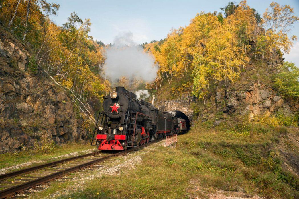 tren transiberiano naturaleza rusia wallpaper