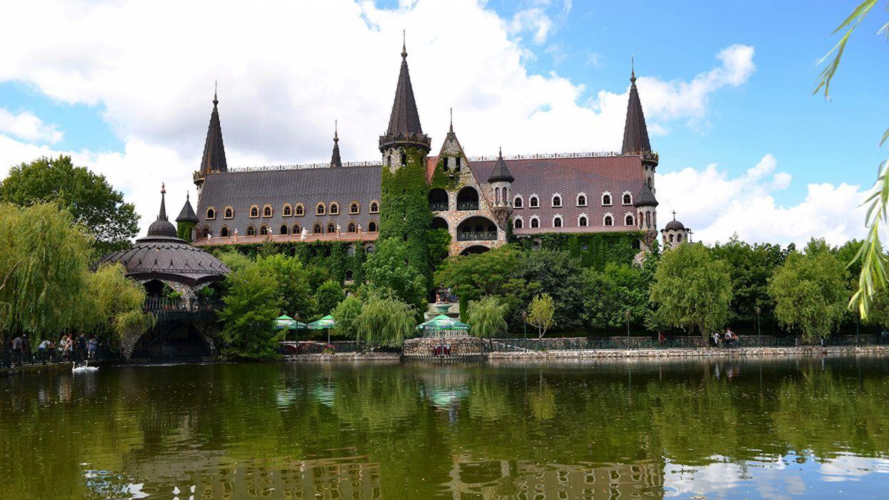 Bulgaria Castles Pond architecture wallpaper