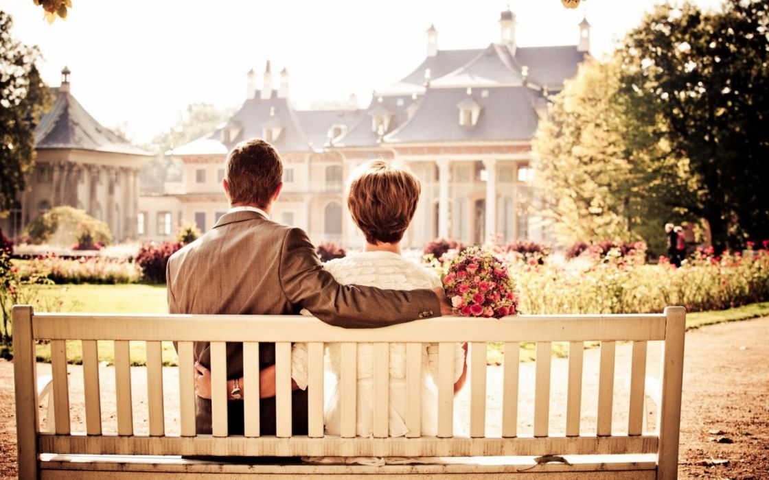 amor novio parque jardin wallpaper