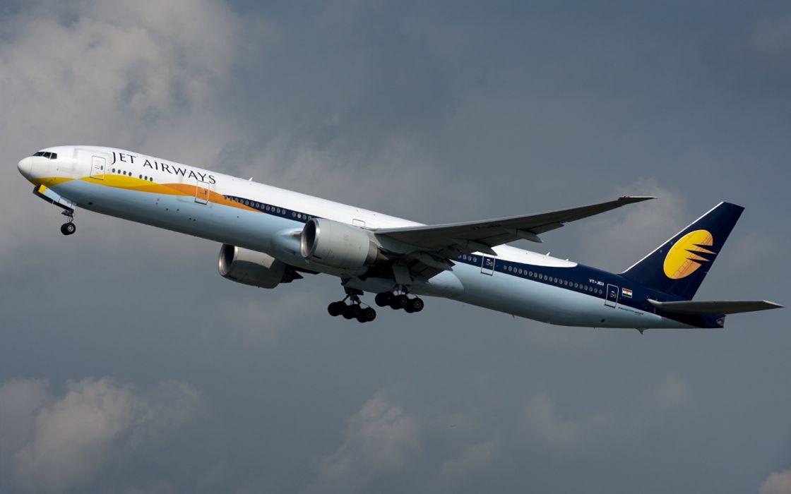 Passenger Airplanes Boeing 777-300ER Jet Airways wallpaper