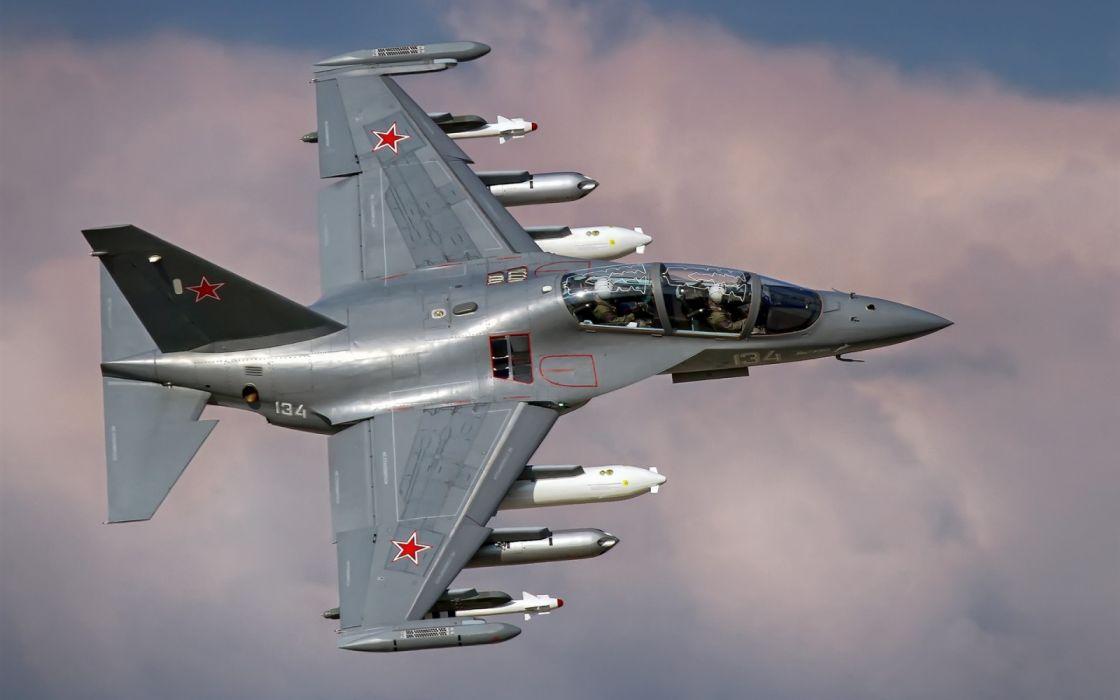 Russian air force Yak 130 fighter wallpaper