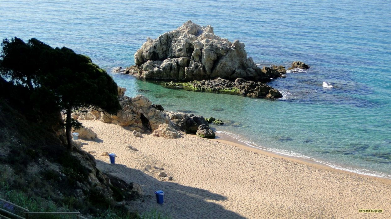 beach in Spain sea nature wallpaper