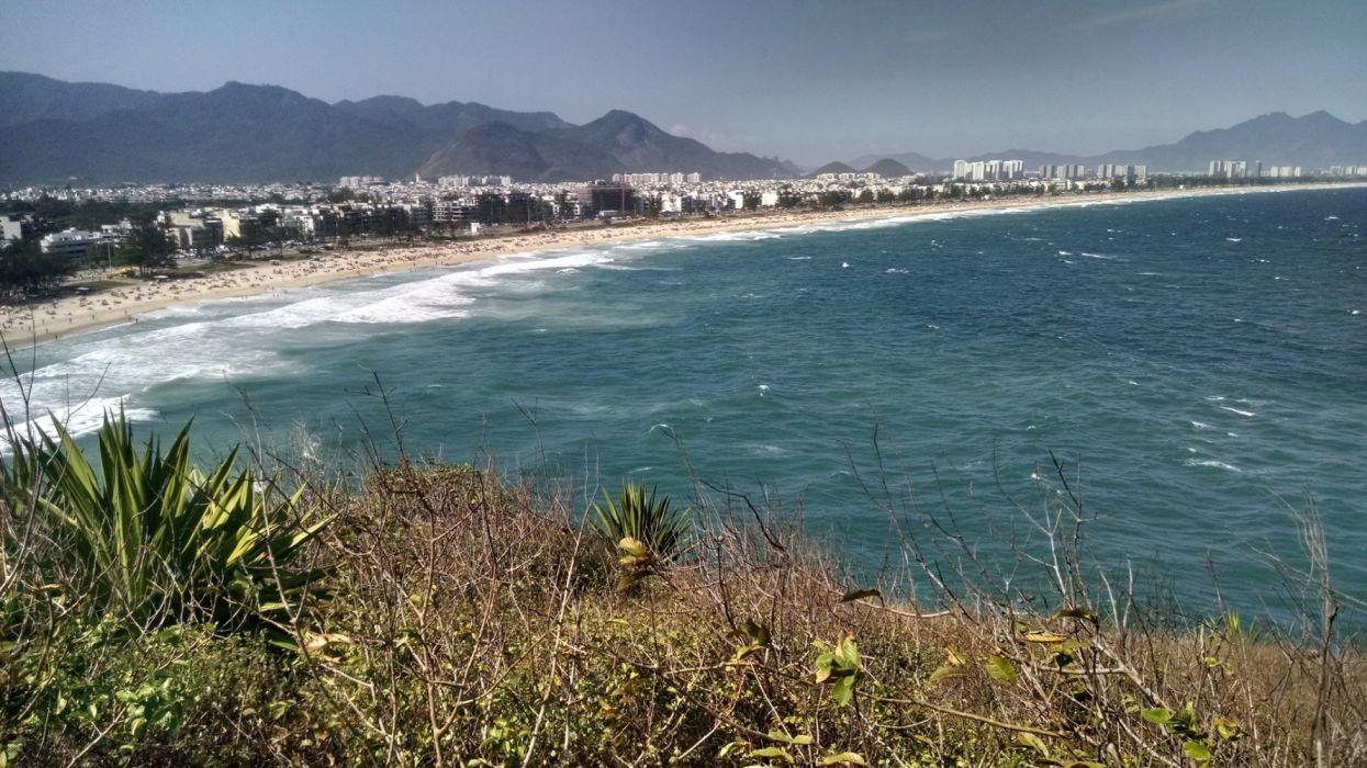 playa mar naturaleza ciudad wallpaper