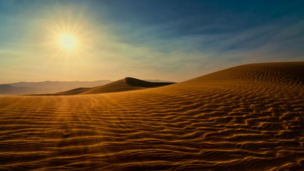Sahara Desert sunshine nature wallpaper