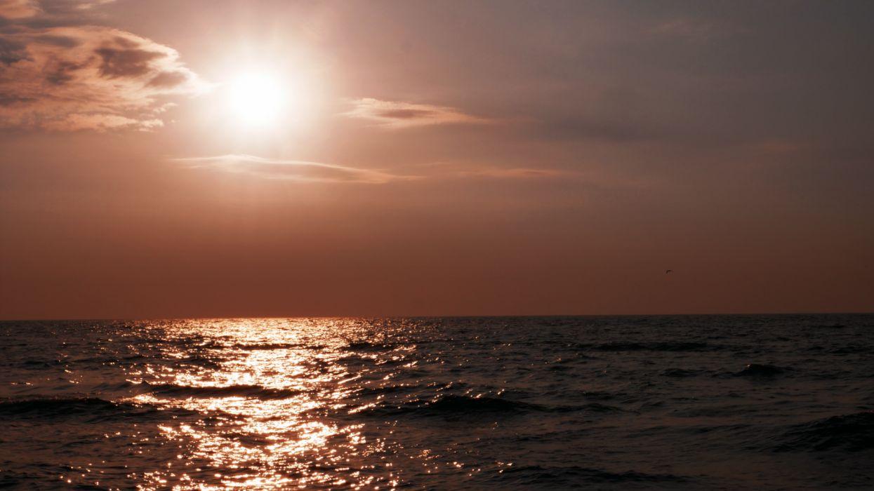 sol mar naturaleza agua wallpaper