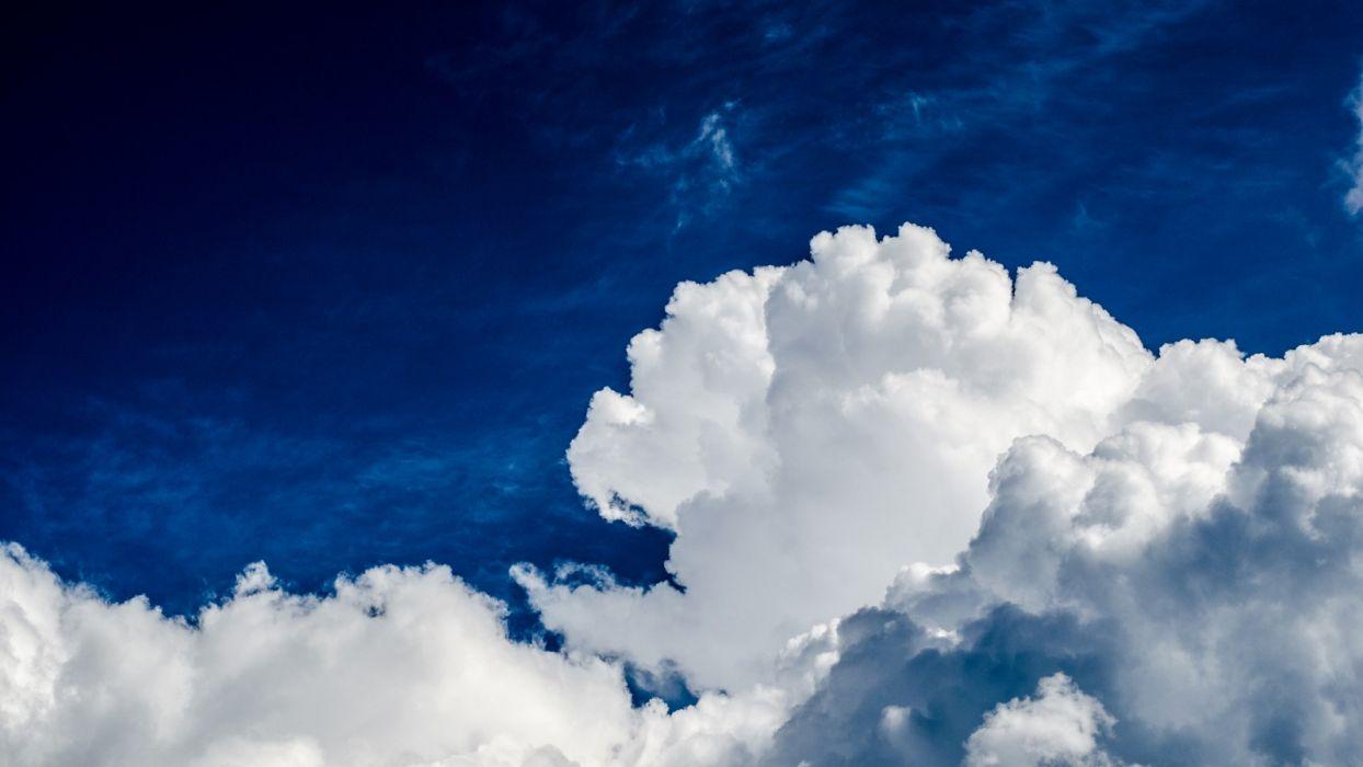 clouds sky nature wallpaper