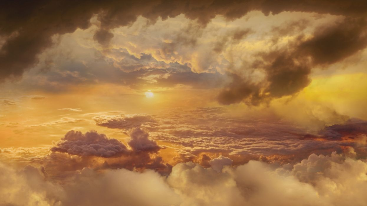 title cloudy-sky at sunrise earth sky wallpaper