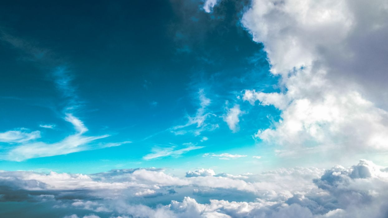 blue sky clound nature wallpaper