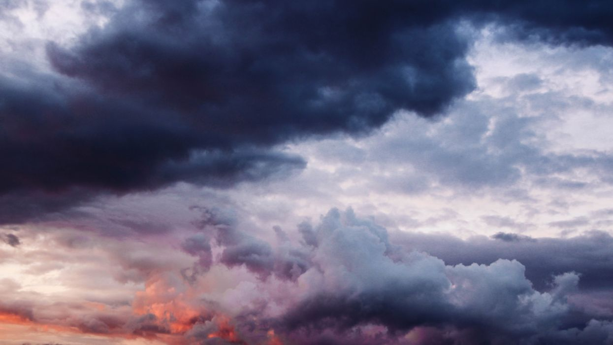 Cloudy sky thick clouds nature wallpaper