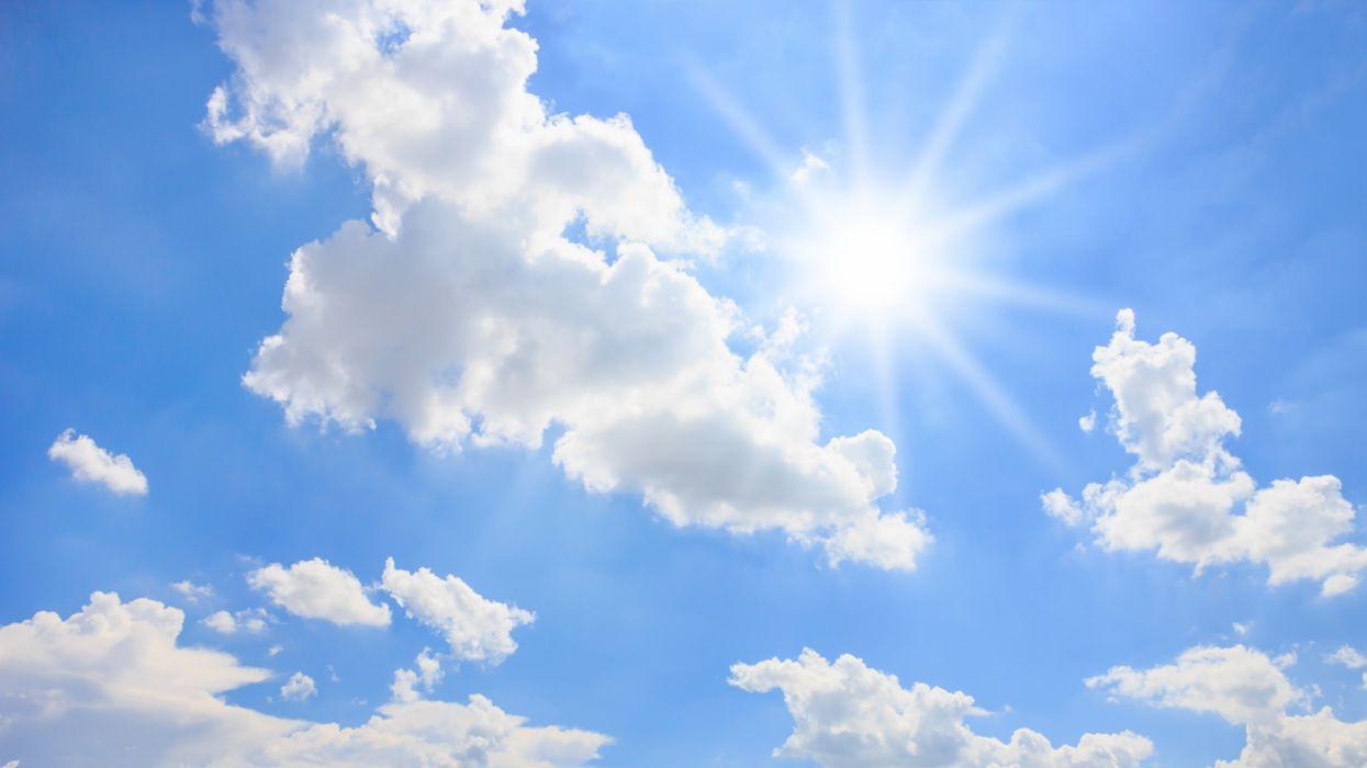 Sky Sun Clouds blue nature wallpaper
