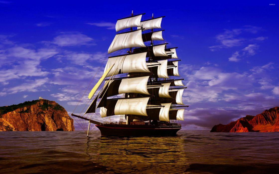 galeon pirata velas barcos wallpaper