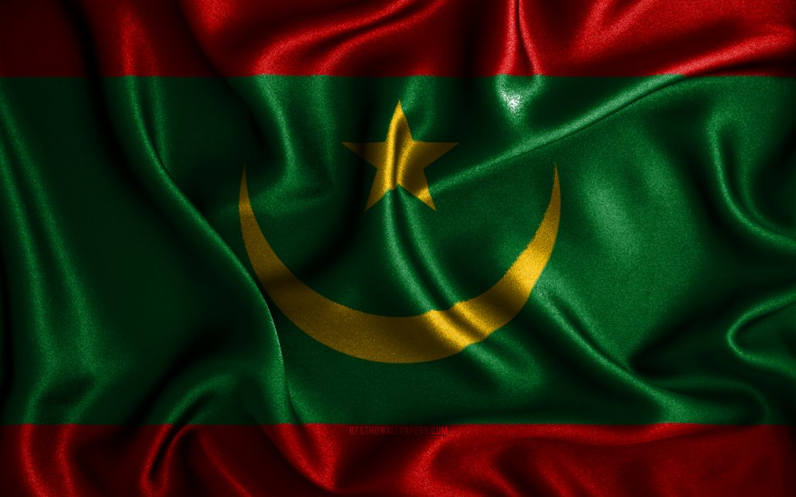 mauritanian flags african countries national symbols wallpaper