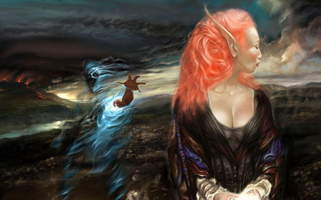 Anime fantasy girl ghost wallpaper