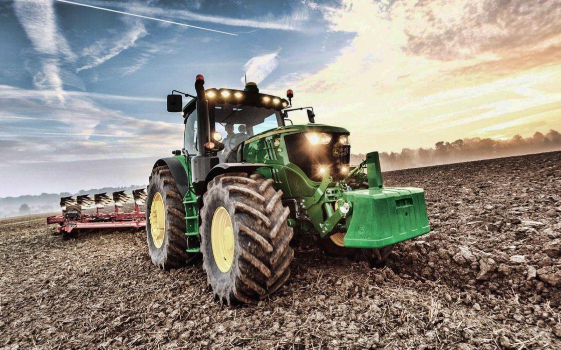 tractor verde vehiculos labranza wallpaper