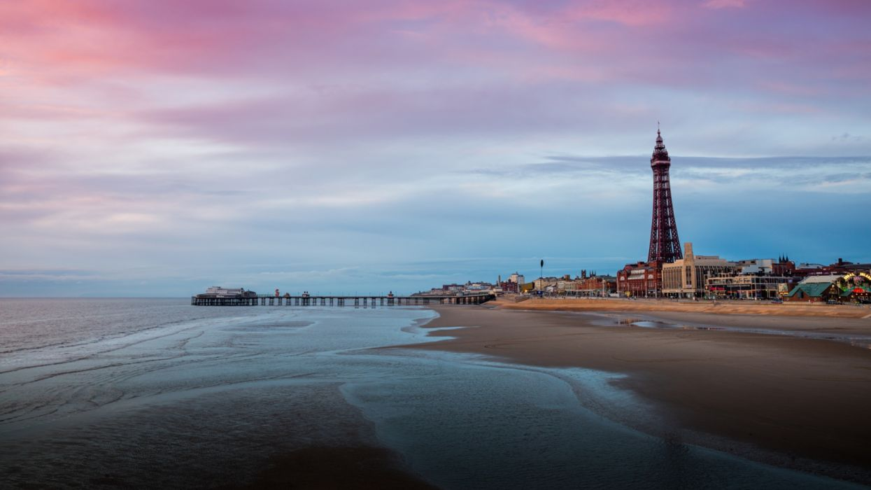 Marinas England Blackpool Lancashire Tower Beach wallpaper