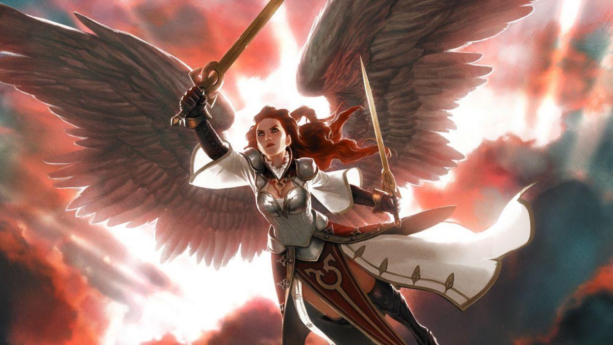 angel art artwork Dark fantasy Gathering Magic wallpaper