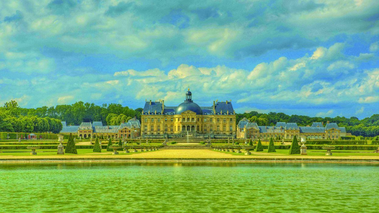 France Castles Rivers Parks Chateau de Vaux wallpaper